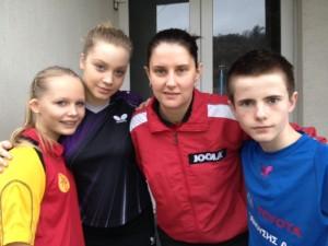 Frøydis, Sara, Michaela Steff (värds 3 a før ca 10 år), og Adrian
